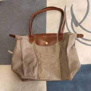 Longchamp stone gray small shopper